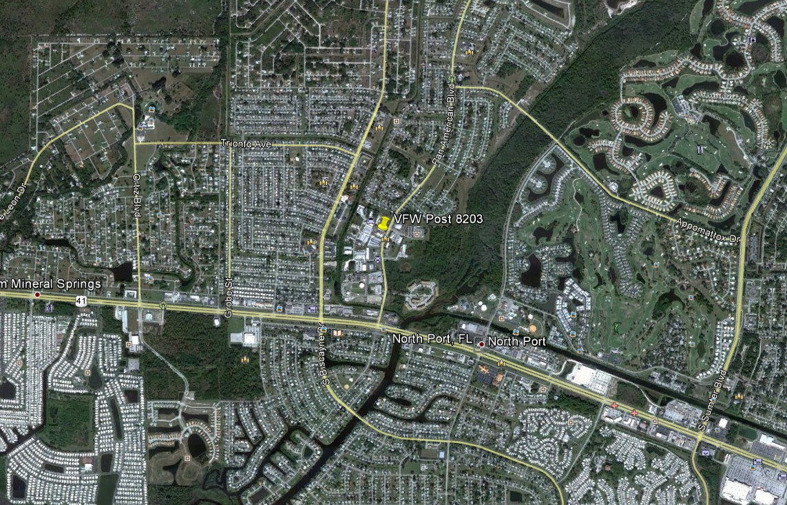 Contact Us - Map of us 41 in florida